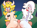 Bowsette & Boosalina Butt Bounce play